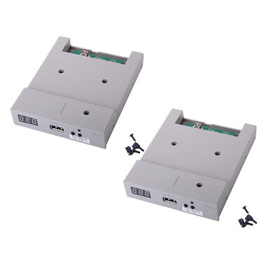 2x 3.5'' External USB Floppy Drive with Screws Jumpers Caps Gray