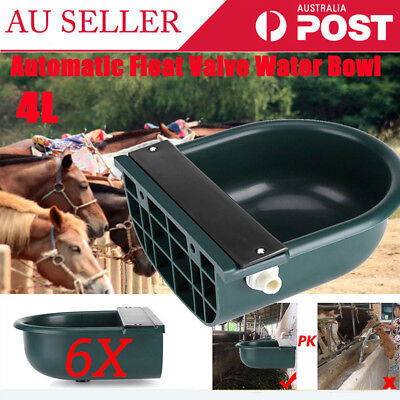 6X 4L Automatic Drink Water Bowl Brass Float Valve Trough Stock Animal Cow Horse