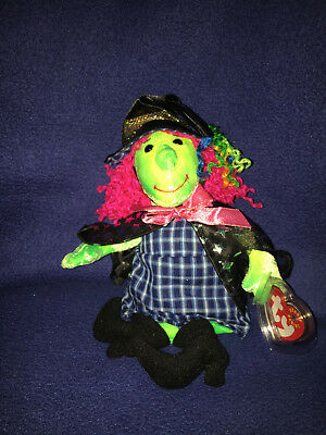 Ty Beanie Baby Scary - MWMT (Witch 2000) Halloween with Tag *NEW* Free Shipping