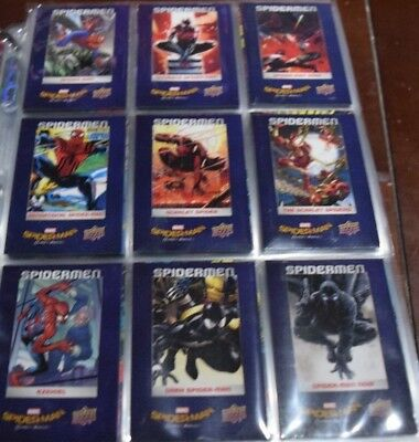 2017 Marvel Spider-Man Homecoming Spider-Men complete 9 card set