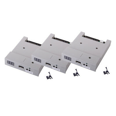 3Packs 3.5'' USB Floppy Drive with Screws Jumpers Caps
