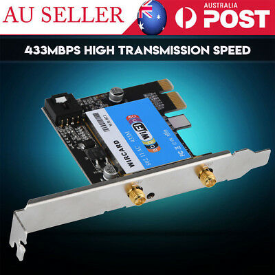 PCIE Network Card 433Mbps Dual Band 2.4G/5G + Network Card for Desktop AU SHIP