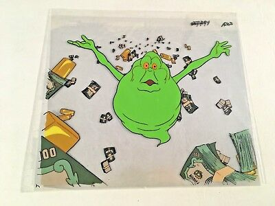 Real Ghostbusters Animation Production Art 3-Cel Slimer Money Gold Dollar Rich