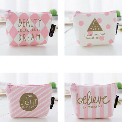 Novelty pattern girl's toiletry wash storage pouch cosmetic bag makeup case W PQ