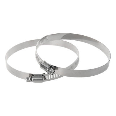 2 Pcs 91-114mm Adjustable Range Stainless Steel Band Worm Gear Hose Clamp 4 C8I9