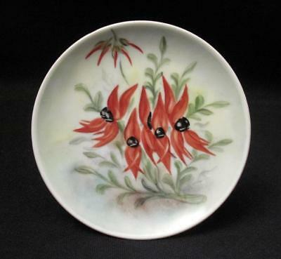 Handpainted Porcelain Wildflower Plate Signed D Lane Western Australian