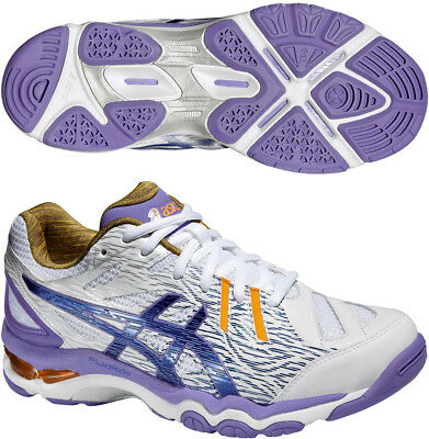 Asics Gel Netburner Super 6 Ladies Netball Shoes Trainers - White