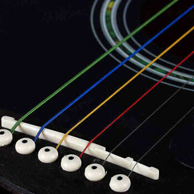 Ancient Music Player Guitar Strings Rainbow Durable 6pcs for Electric Guitar New