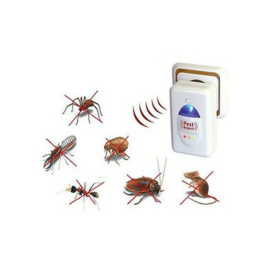 Ultrasonic Electronic Rat Cockroach Spider Pest Bug Mosquito Repeller Reject 1Pc