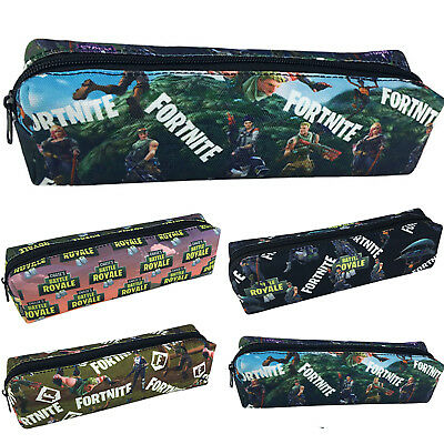 Fortnite Pencil Pen Case Battle Royale Kids Student Bag Stationary Make-up Bags