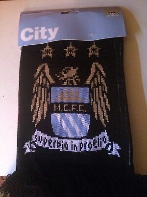 Official Manchester City Scarf - Brand New Genuine Product - £6.99 With Free P&P