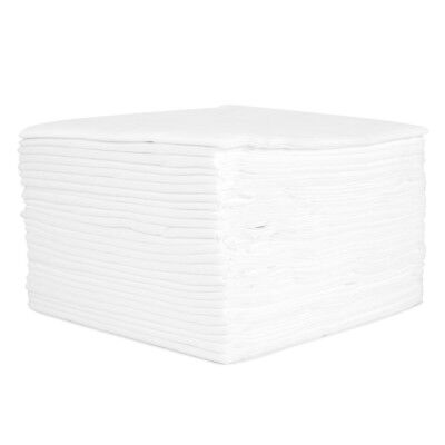50 x White Disposable Towels Hair Beauty Face Salon Drying Hairdressing Face