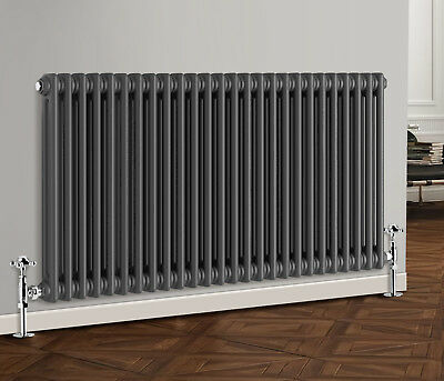 Anthracite Traditional Cast Iron Style Horizontal Radiator 2 Column 600x1190 mm