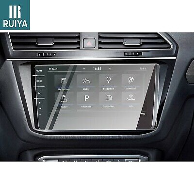 RUIYA Tempered Glass Car Navigation Screen Protector For 2017 2018 VW Tiguan 9.2
