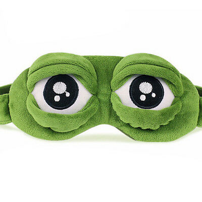 The Frog Sad Rana 3D Eye Mask Cover Sleeping Rest Divertente C PQ