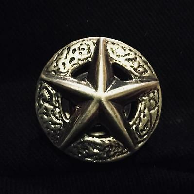 925 Silver Star Concho western texas leathercraft belt wallet saddle feeanddave