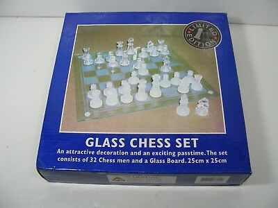 Limited Edition elegant Glass chess set.