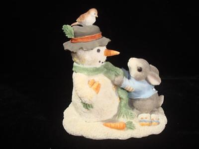 My Blushing Bunnies~Friendship Puts a Smile on Your Face~Bunny w/Snowman~w/Box