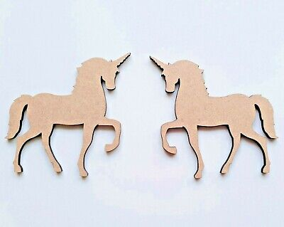 Laser Cut MDF Wood Unicorn pack of 5  - Christmas, Nordic, Rustic, Craft