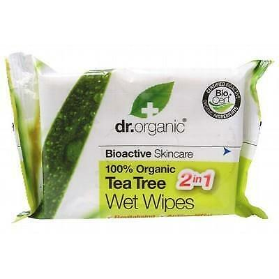 DR ORGANIC Wipes Tea Tree 20 pack