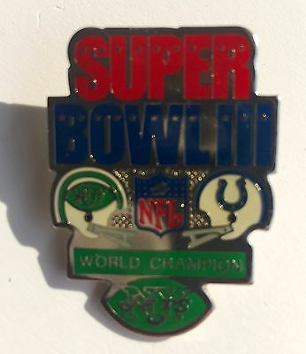 New York Jets Super Bowl III Champions Peter David Pin vs Baltimore Colts L2