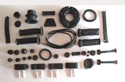Black Rubber Kit Best  For  Yamaha Rd 350 Motorbikesover 40 Pieces