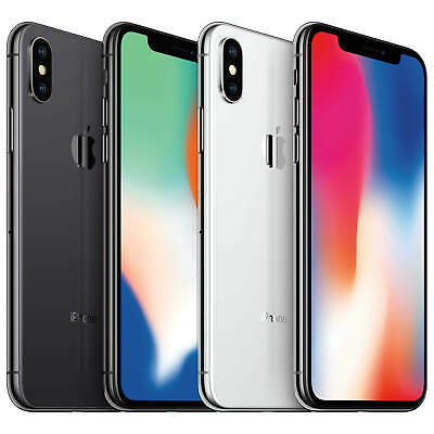 Apple iPhone X - 256GB - T-Mobile AT&T Factory GSM Unlocked - Smartphone