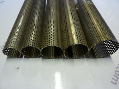 Perforated Pipes Exhaust Tube T304 Stainless Steel All Sizes Pipe Length Tubes