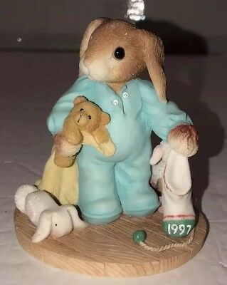 Enesco My Blushing Bunnies You're Some Bunny Warm Cuddly 1997
