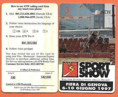 # CARTA TELEFONICA ATW - GENOVA - Beach volley  n. 71 - USATA #