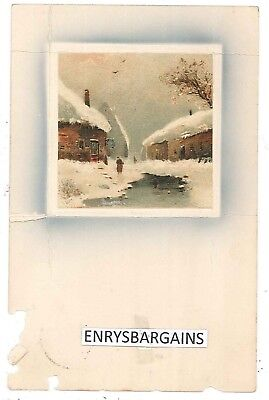 """Norway Winter Scenery. Postally used, 1909 with charity stamp - NKS,""""Til Kamp Mo"""