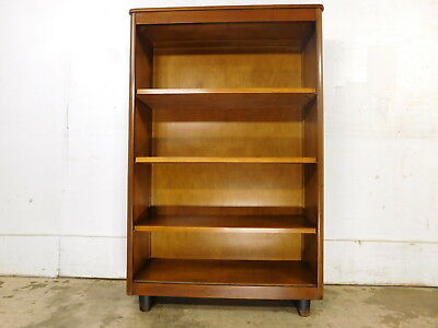 1930s 40s Vintage Art Deco Open Bookcase Nucraft Grand Rapids