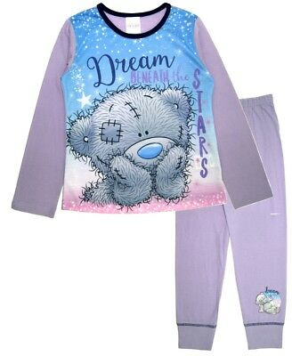 Girls Tatty Teddy Long Pyjamas Kids Me To You 2 Piece PJs Set Beneath The Stars
