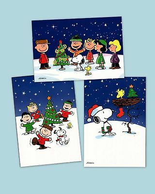 PEANUTS FANS! SNOOPY & FRIENDS CHRISTMAS CARD ASSORTMENT by SUNRISE (3)