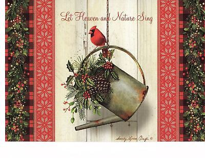 GARDEN CARDINAL INSPIRATIONAL DELUXE CHRISTMAS CARDS with SCRIPTURE (3)