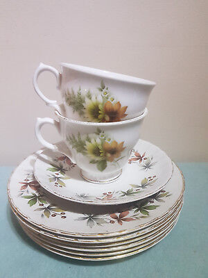 Vintage Ridgeway Ellesmere Saucers & Royal Vale Bone China Teacups England Made
