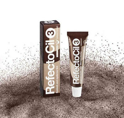 RefectoCil No. 3 Natural Brown Color Eyebrow Eyelash Professional Tint 15 ml