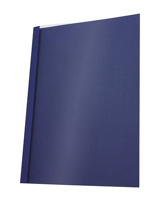 PAVO A4 Leather Look 1.5 mm Thermal Binding Cover - Clear/Blue (Pack of 25)