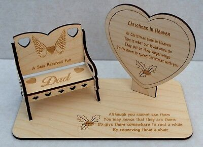Christmas In Heaven Memorial for Missed Loved Ones With a Personalised  Chair