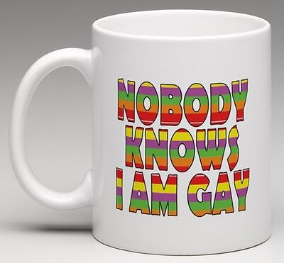 Novelty Mug - NOBODY KNOWS I AM GAY