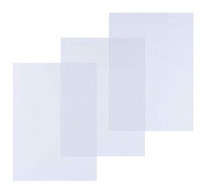PAVO Premium A4 200 μ PP Glass Cover - Clear/Transparent (Pack of 100)