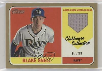 2018 Topps Heritage High Number Ccr Bs Blake Snell Tampa Bay Rays Baseball Card