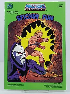 He Man Masters of the Universe Sticker Fun Activity Book Golden 1986 Vtg unused