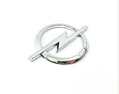 OPEL Silver Chrome Emblem Badge Logo with Sticker 85mm x 60mm