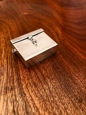 - Mexican Sterling Silver Pill Box / Pendant  In Shape Of Briefcase: Taxco Ts-14