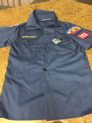 Boy Scouts of America Cub Scout Blue Youth M Short Sleeve Uniform Shirt BSA