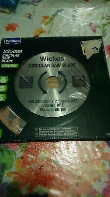 Wickes circular saw Blade new 235 mm