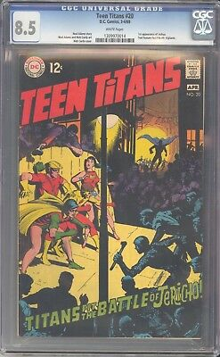 CGC 8.5 Teen Titans #20 (March-April 1969, DC) 1st App. of Joshua.  Neal Adams.