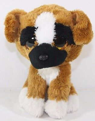 Ty Beanie Baby Babies Brutus Sitting Puppy Dog Brown Black Plush Stuffed Lovey