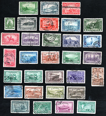 Canada Collection of 30 Early High Value Definitives Used